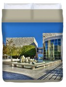 J. Paul Getty Museum Courtyard Fountains Blue Veined Marble Boulders Sculpture Duvet Cover