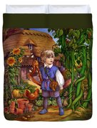 Jack And The Beanstalk By Carol Lawson Duvet Cover