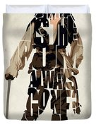Jack Sparrow Inspired Pirates Of The Caribbean Typographic Poster Duvet Cover