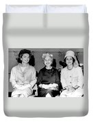 Jackie Kennedy At Luncheon Duvet Cover