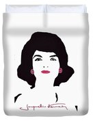 Jackie Kennedy Signature Pink Lips Duvet Cover by Jost Houk