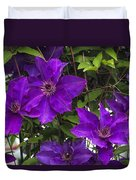 Jackmanii Purple Clematis Vine Duvet Cover