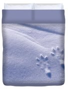 Jackrabbit Tracks In Snow Duvet Cover