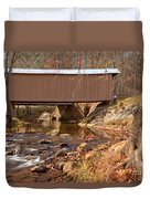 Jacks Creek Bridge Over Smith River Duvet Cover