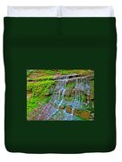 Jackson Falls At Mile 405 Natchez Trace Parkway-tennessee Duvet Cover
