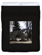 Jackson Hole Wyoming Antler Arch Duvet Cover