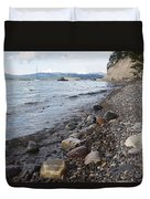 Jackson Lake With Boats Duvet Cover