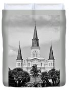Jackson Square In Black And White Duvet Cover