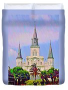 Jackson Square In The French Quarter Duvet Cover