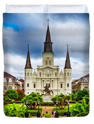 Jackson Square New Orleans Duvet Cover