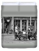 Jackson Square Reading 2 Bw Duvet Cover
