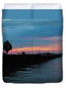 Jackson Street Pier - Sunset Duvet Cover