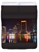 Jacksonville Aglow Duvet Cover