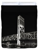 Jacksonville Florida Main Street Bridge Duvet Cover