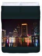 Jacksonville Night Duvet Cover