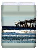 Jacksonville Pier Duvet Cover
