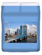 Jacksonville Skyline Duvet Cover