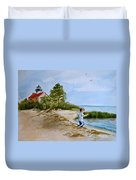 Jacob At East Point  Duvet Cover