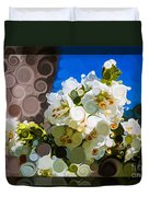 Jacobs Ladder Abstract Flower Painting Duvet Cover