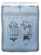 Jacques Cousteau Diving Suit Patent Duvet Cover