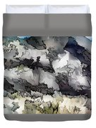 Jagged And Flowing Duvet Cover