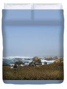 Jagged California Coastline Duvet Cover