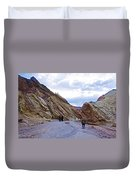 Jagged Edges On Canyon Walls In Golden Canyon Trail In Death Valley National Park-california  Duvet Cover