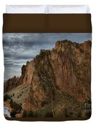 Jagged Peaks At Smith Rock Duvet Cover