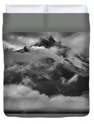 Jagged Peaks Glaciers And Storms Duvet Cover
