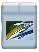 Jaguar Car Hood Ornament Duvet Cover