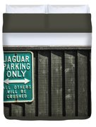 Jaguar Car Park Duvet Cover by Joana Kruse