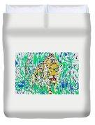 Jaguar - Enamels Painting Duvet Cover