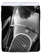 Jaguar Hood Emblem - Grille Duvet Cover by Jill Reger