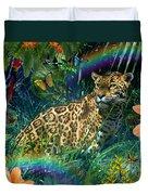 Jaguar Meadow  Variant 1 Duvet Cover