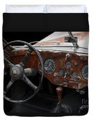 Jaguar Odtimer Steering Wheel Duvet Cover