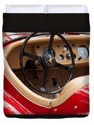 Jaguar Steering Wheel Duvet Cover by Jill Reger