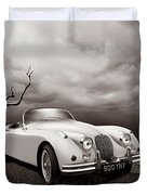 Jaguar Xk150 - Admiring The View Duvet Cover