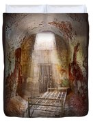 Jail - Eastern State Penitentiary - 50 Years To Life Duvet Cover by Mike Savad