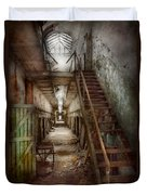 Jail - Eastern State Penitentiary - Down A Lonely Corridor Duvet Cover