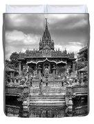 Jain Temple Monochrome Duvet Cover