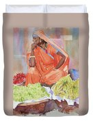 Jaipur Street Vendor Duvet Cover