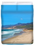 Jalama Beach Santa Barbara County California Duvet Cover