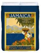 Jamaica The Gem Of The Tropics Duvet Cover
