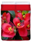 Jamaican Poinsettia Duvet Cover