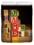 James - Alphabet Blocks Duvet Cover