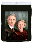 James And Ina K Duvet Cover
