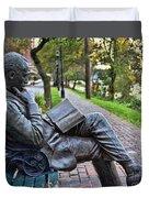 James Bradley Statue 9882 Duvet Cover