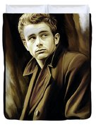 James Dean Artwork Duvet Cover