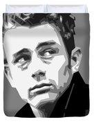 James Dean In Black And White Duvet Cover