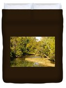 James River In The Fall Duvet Cover